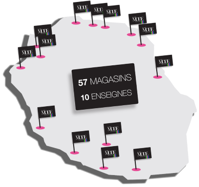 Enseignes La Carte Mode à la Réunion 974